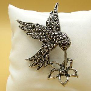 Vintage Avon Marcasite Hummingbird Pin